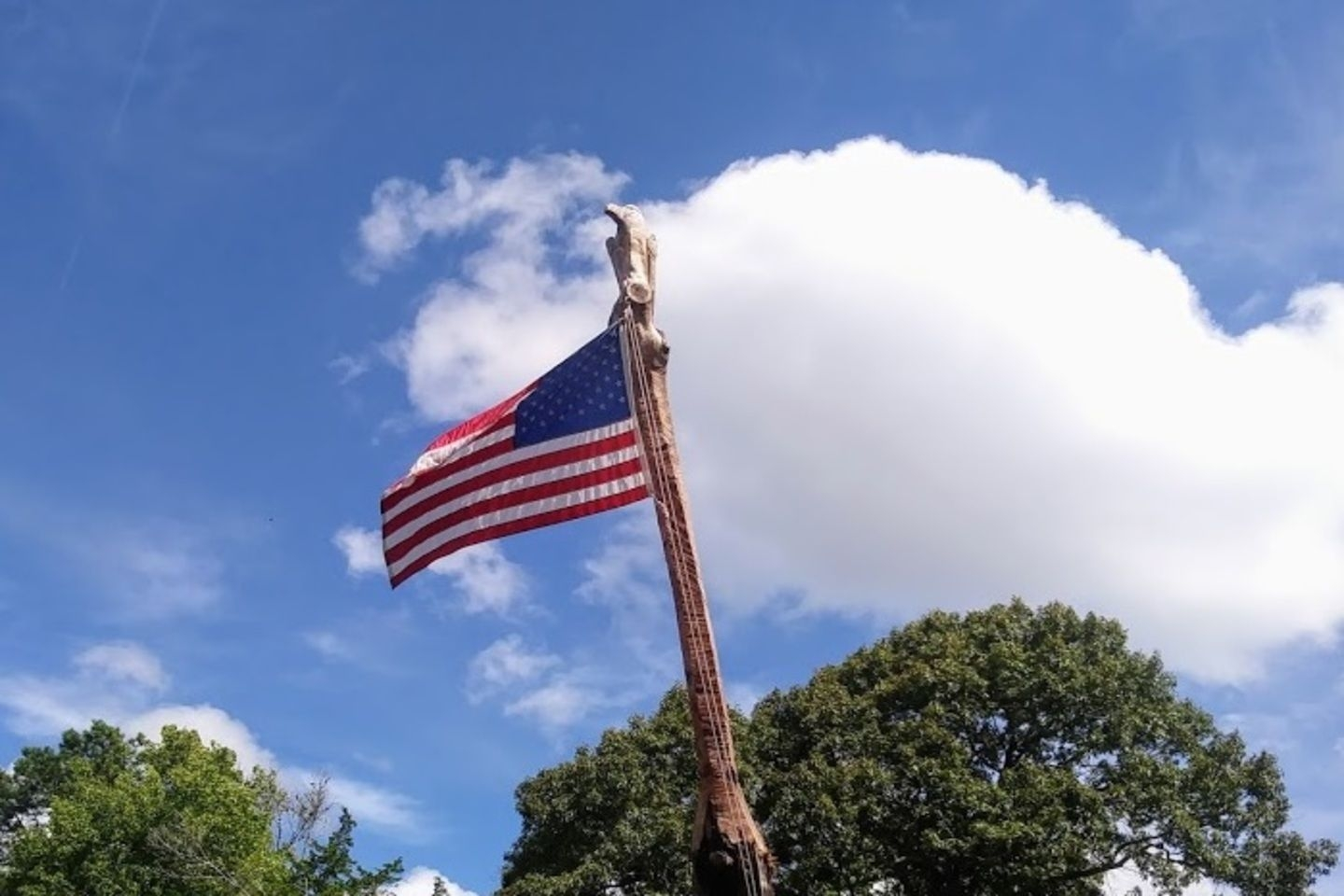 Member Jerry Blackwell submitted this custom display of Old Glory.